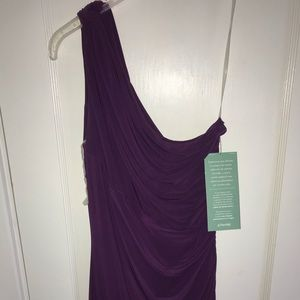 American Living Dresses - Formal One-Shoulder Purple Dress